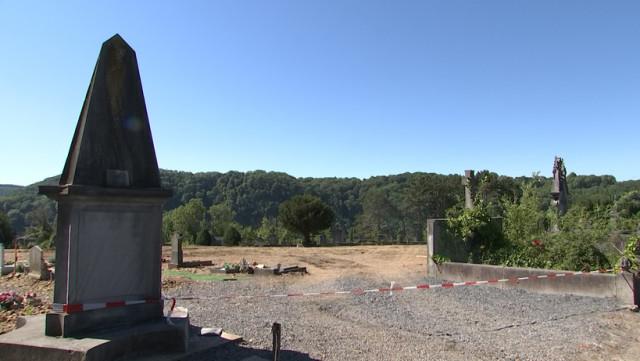 Huy : exhumations et travaux de terrassement au cimetière de la Buissière
