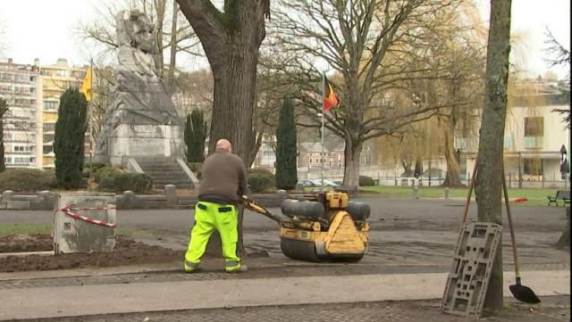 Huy: le réaménagement du parc Henrion vient de démarrer