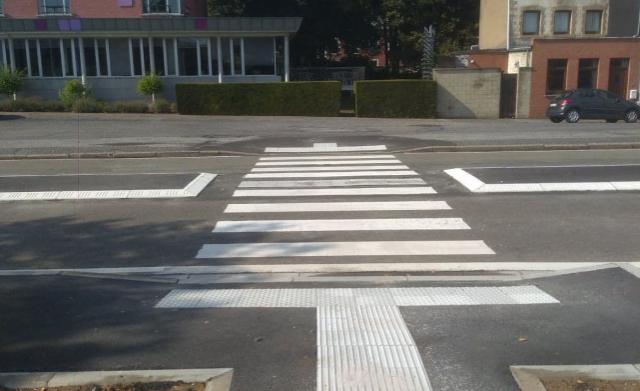 Huy : passage sécurisé pour piétons quai de Compiègne