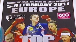 Tennis de table : le top 12 européen à Liège