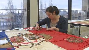 Centenaire 14-18 : des drapeaux liégeois restaurés