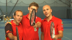 Les stars du tennis belge au Country Hall