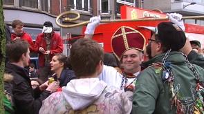 Liège : les étudiants fêtent Saint-Nicolas