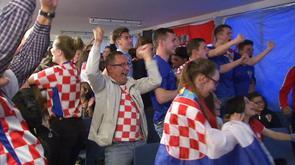 Euro 2016 : le match Croatie-Espagne avec les supporters croates