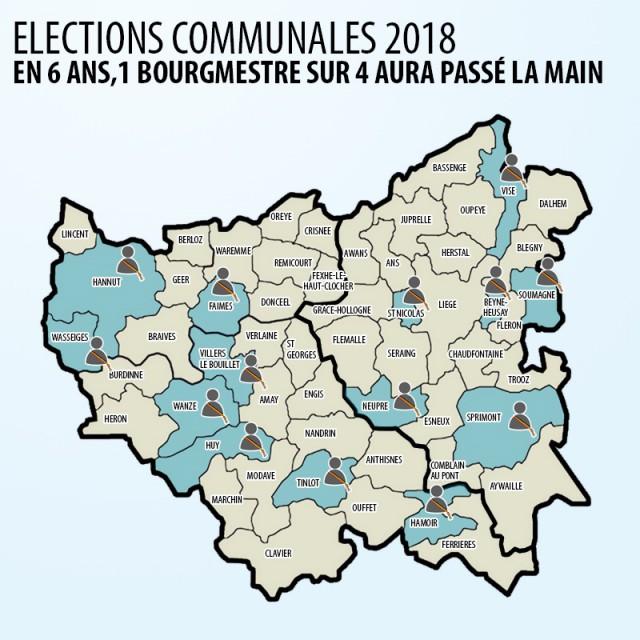 J - 500 pour le scrutin communal : de nombreux bourgmestres passent la main