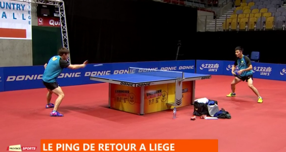 L'élite du tennis de table à Liège