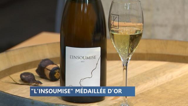 Le crémant 'L'Insoumise' de Vin de Liège joliment primé