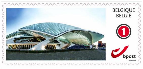 La gare des Guillemins et l'université bientôt sur un timbre poste