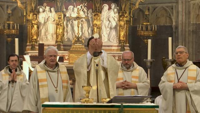 La messe de Pâques a bien eu lieu, mais en streaming