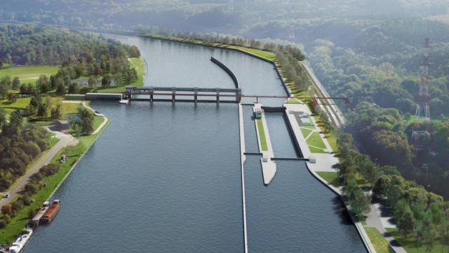 La Meuse élargie de 65 mètres à Amay !