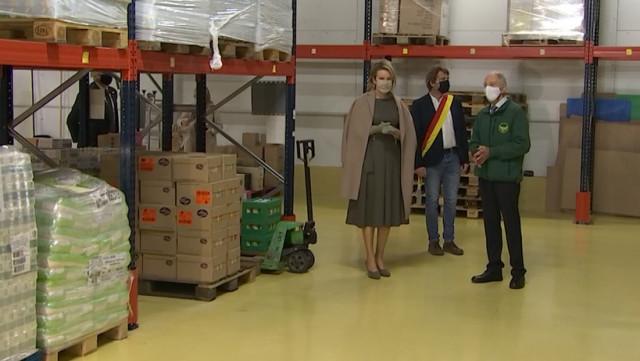 La Reine Mathilde à Ougrée pour soutenir l'aide alimentaire
