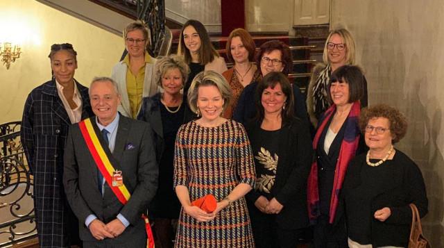 La Reine Mathilde en visite à Liège