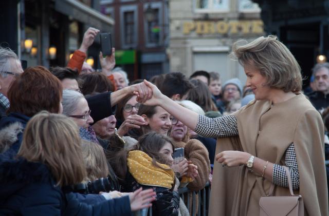 La Reine Mathilde en visite en terre hesbignonne