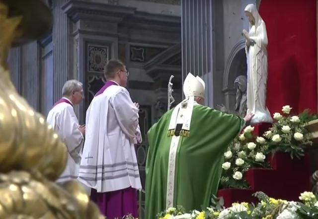 La Vierge de Banneux était au Vatican