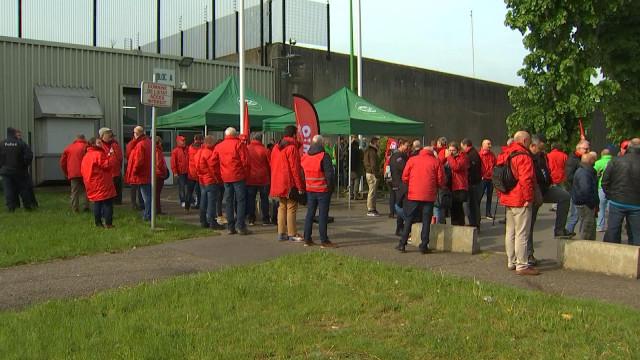 Lantin : grève et rassemblement du personnel des prisons