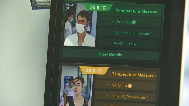 Le CHR Citadelle vérifie la température de chaque visiteur