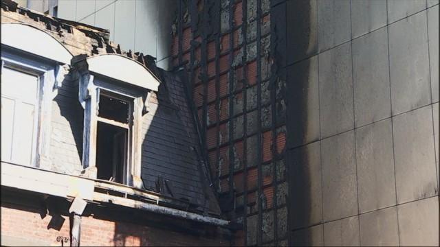 Le commissariat Sainte Marguerite détruit par les flammes