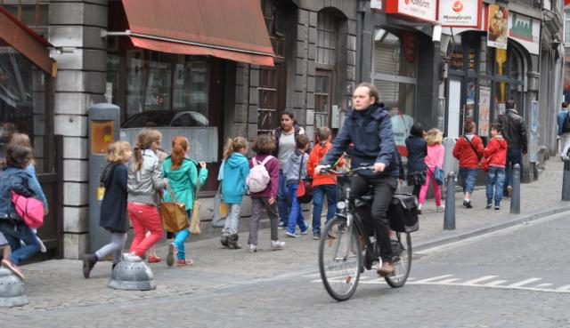 Augmentation marquée du nombre de cyclistes à Liège et Huy