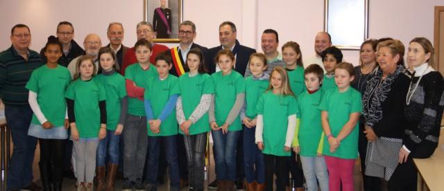 Le nouveau conseil communal des enfants de Trooz