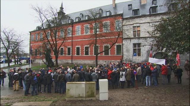 Le personnel de Publifin manifeste à Namur