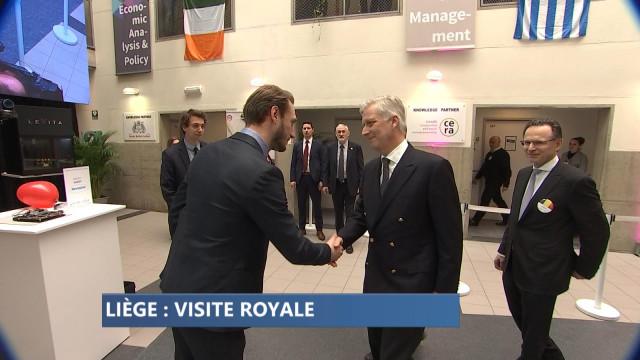 Le Roi Philippe à Liège, avec des étudiants entrepreneurs