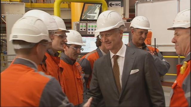 Le Roi Philippe pour une première mondiale chez ArcelorMittal