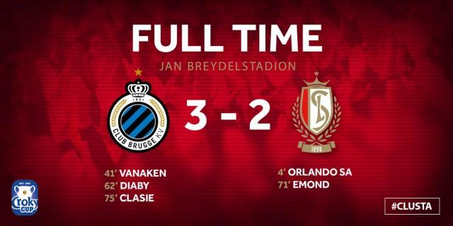 Le Standard en finale de la coupe de Belgique