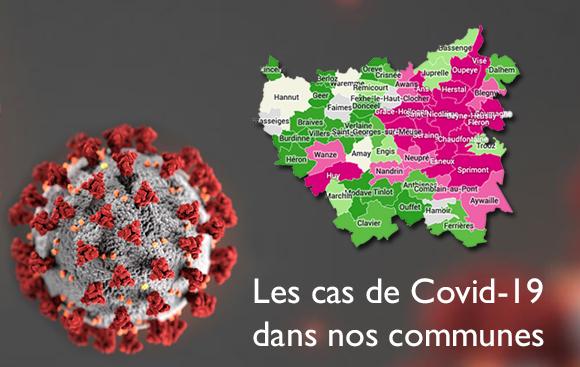 Les cas de Covid19 dans nos communes