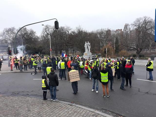 Les gilets jaunes manifestent à Liège ce samedi