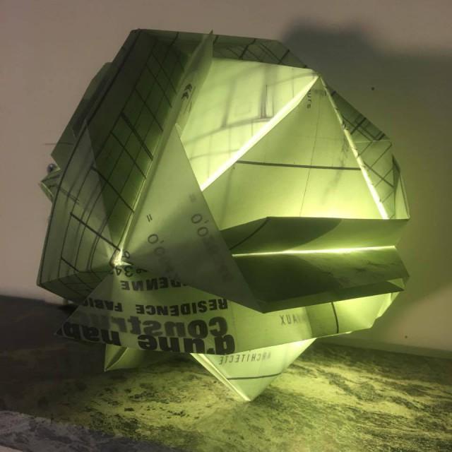 Les luminaires upcyclés de Lucie Vanroy
