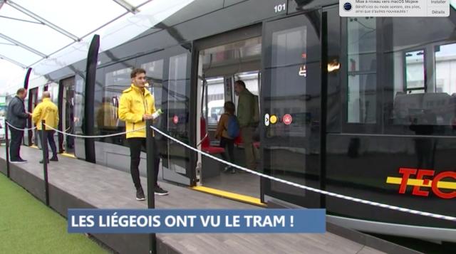 Les Liégeois découvrent leur tram