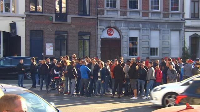 Les travailleurs de l'armement reçus au PS Liège