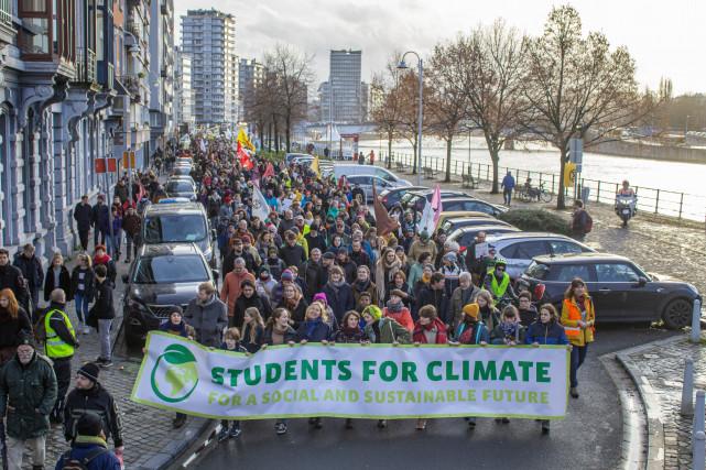Liège : 1200 marcheurs pour le climat