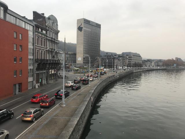 Liège centre bloqué par des gilets jaunes