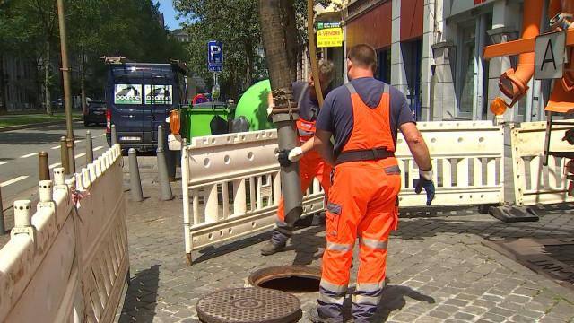Liège : curage exceptionnel des égoûts du centre-ville