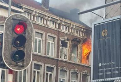Liège : une explosion de maison fait 2 blessés rue Gretry.
