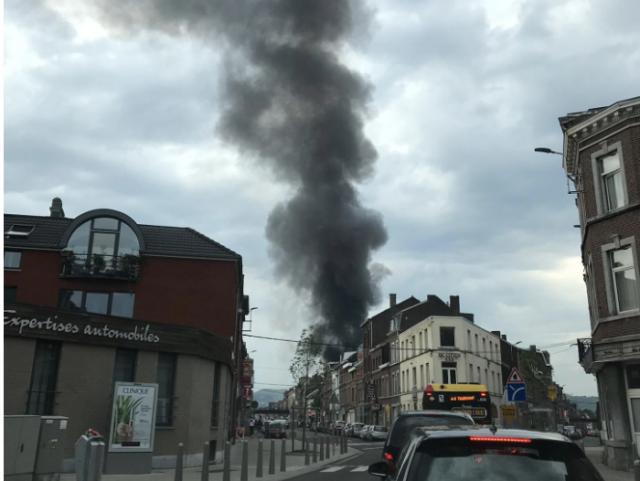 Liège : important incendie rue Gretry. Les premières images