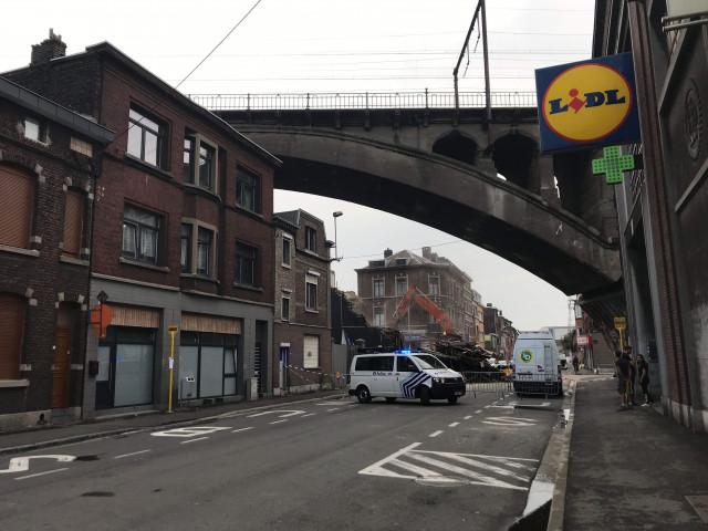 Liège : incendie et effondrement de façade