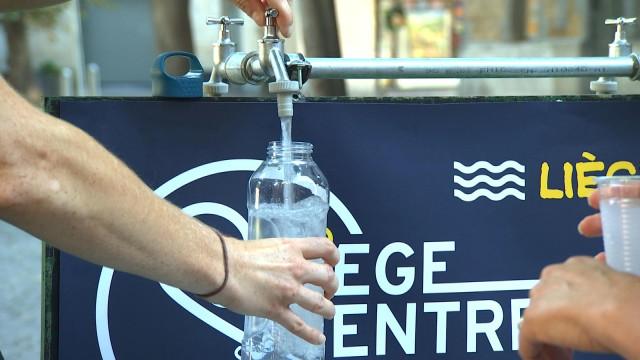 Liège : points d'eau potable temporaires