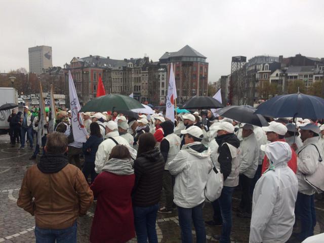 Liège: 600 participants à un rassemblement contre les violences sur les policiers