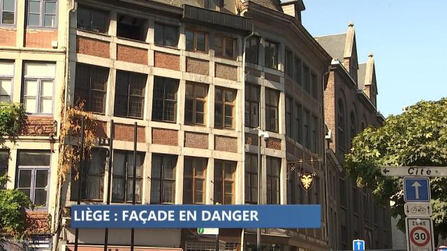 Liège : risque d'effondrement d'une maison classée