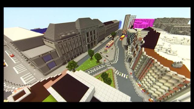 Liège se construit sur Minecraft