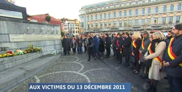 Liège se souvient des victimes du 13 décembre 2011