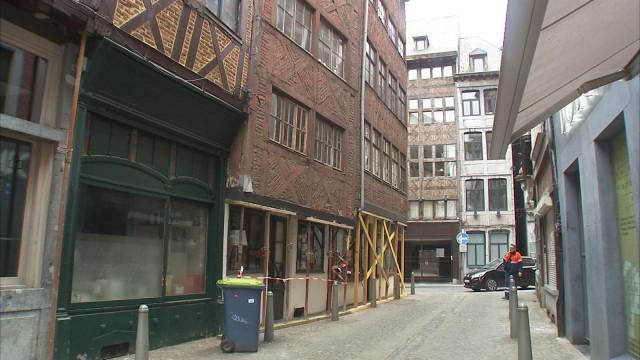 Liège : une maison menace de s'effondrer