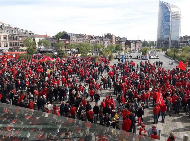 Manifestation FGTB aux Guillemins