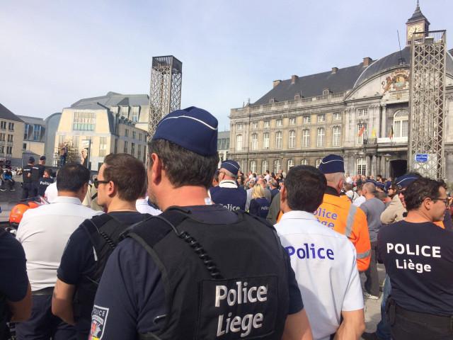 Manifestations de policiers à Liège
