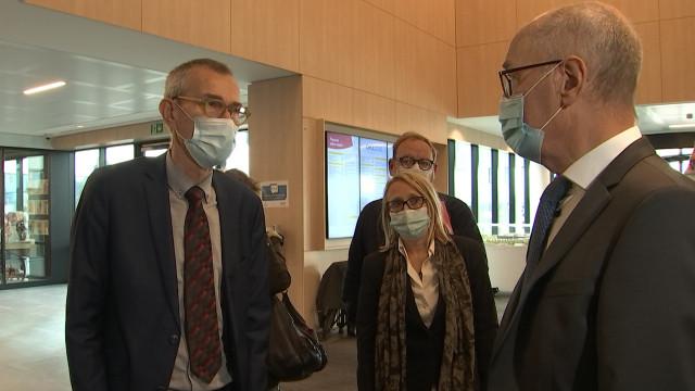 MontLégia : le ministre fédéral de la santé visite l'unité de réveil Covid