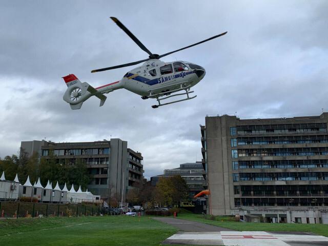 Neuf patients Covid-19 transférés par l'hélicoptère du CMH