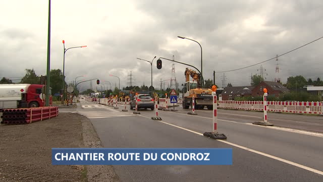 Neupré : chantier route du Condroz