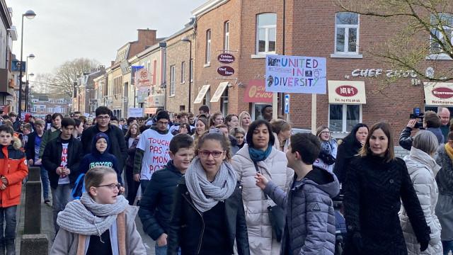 Des élèves de Saint-Georges et de Huy disent non à l'expulsion !